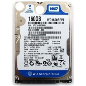 Hd Notebook Western Digital 160 Gb 7200 Rpm