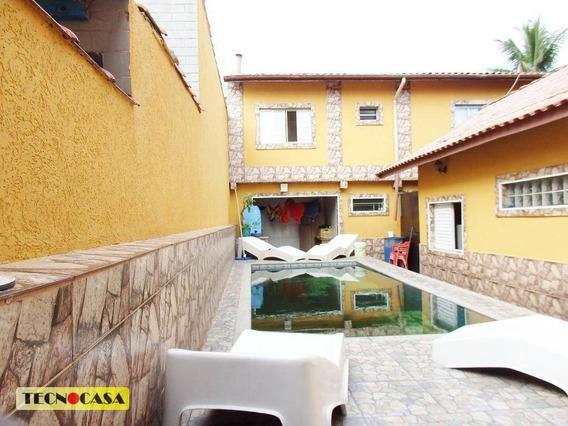 Sobrado Com 05 Dormitórios Para Venda Na Vila Mirim Em Praia Grande/sp. - So1981