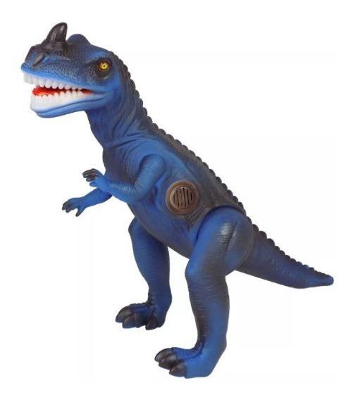 Dinossauro T - Rex Emite Som - Brinquedo Criança - Azul
