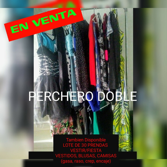 Perchero Doble + Lote De 30 Prendas De Fiesta