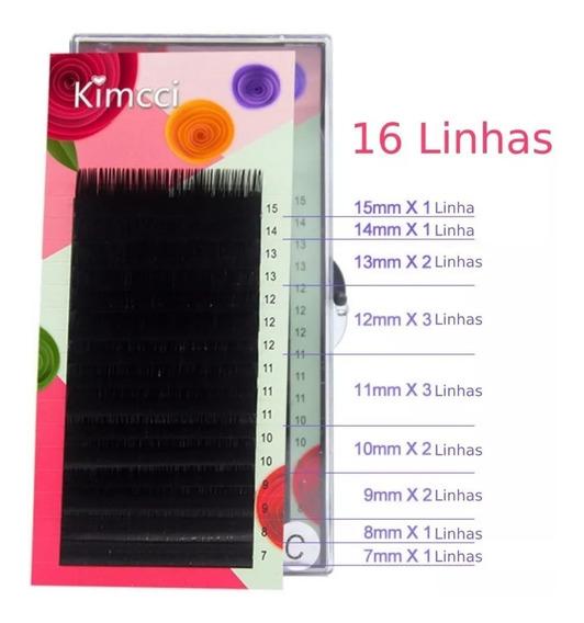 Cílios 0.15mm De Seda Caixa Mista Tamanhos 7mm Ao 15mm Mix