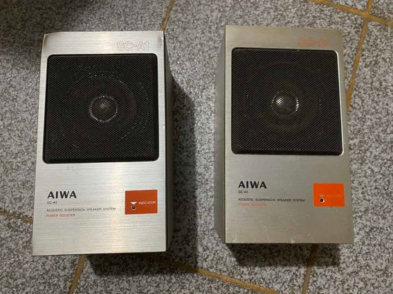 Par De Caixas De Som Aiwa