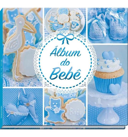Album Para Bebê Azul Ou Rosa 48 Paginas 23 X 25 Cm