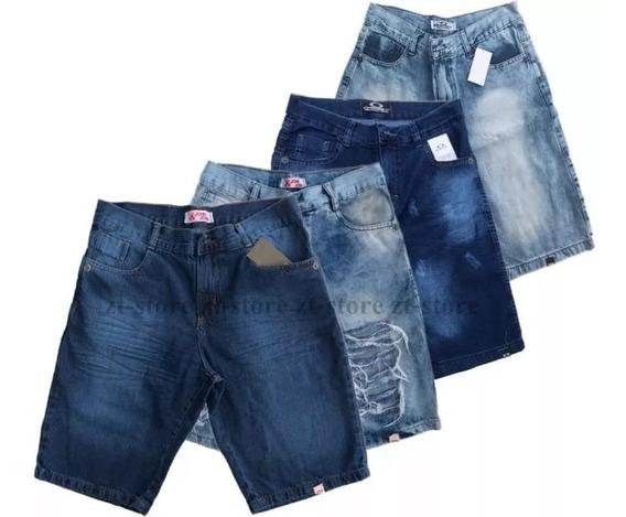 Kit 5 Bermuda Jeans Masculina Short Sarja Várias Marcas