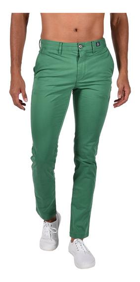Pantalón Slim Fit Tommy Verde Mw0mw04280-308 Hombre