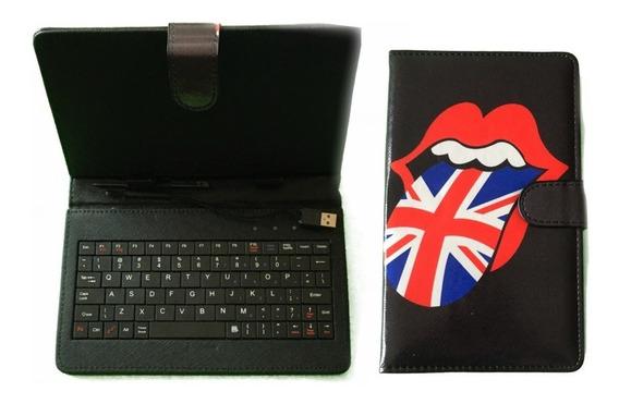 Capa Para Tablet Com Teclado Para 7 Polegadas Universal Case
