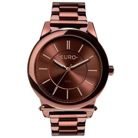 Relógio Euro Feminino Marrom Eu2036ymr/4m Original