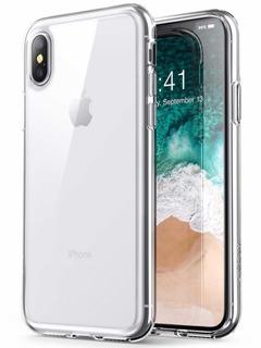 Case Bumper Cristal Clear iPhone X + Película Transparente