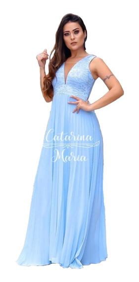 Vestido Madrinha Marsala Serenity Tifany Plissado Gestante