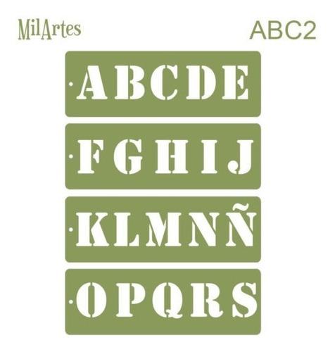 Mil Artes - Stencil Letras 5cm Alto - Abc2