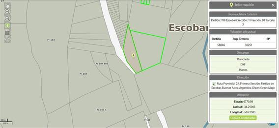 Fracción Sobre Ruta 25, Camino Al Parana. Escobar