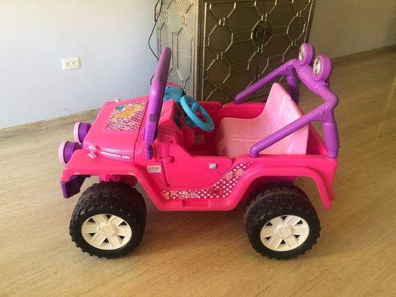 Carro Jeep Eléctrico De Barbie Para Niñas Manejar (poco Uso)