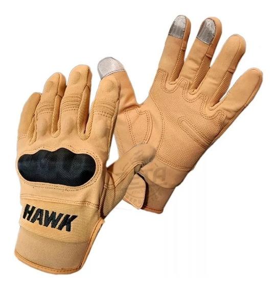 Guantes Hawk Army Camel Full Finger Proteccion Motos Miguel