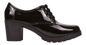 Sapato Sapatenis Coturno Feminino Oxford Salto Alto Ref 57