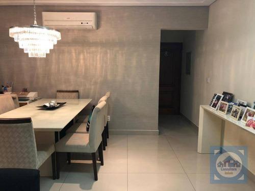 Apartamento Com 3 Dormitórios À Venda, 125 M² Por R$ 741.000,00 - Pompéia - Santos/sp - Ap4153