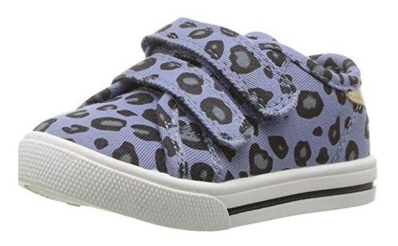Zapatos Carters Morados Animal Print Niña Nuevo Original Usa