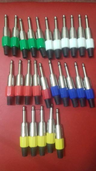 Plug P10 Mono Metal Com Rabicho De Plastico