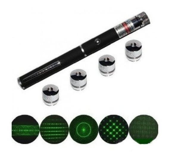 2 Laser Pointer Caneta Apontador Sinalizador 5 Efeitos Verde