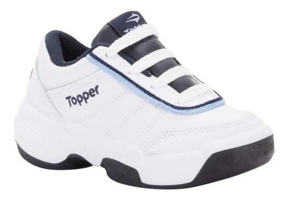 Topper Zapatillas Tenis Niño Tie Break Il Blanco - Azul