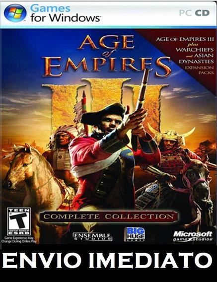 Age Of Empires 3 Completo Pc - Mídia Digital + Brinde