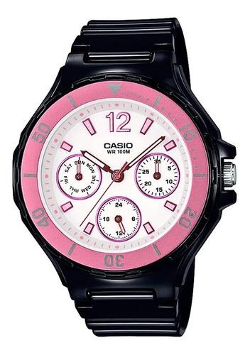 Reloj Mujer Casio Lrw-250h-1a3 Negro Analogo / Lhua Store