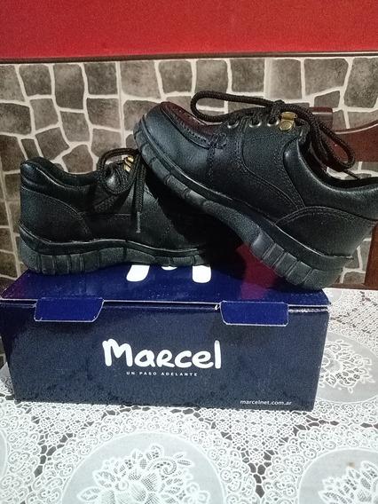 Zapatos Escolares Marcel De Cuero Impecables Talle N°29