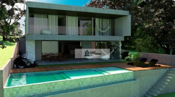 Casa À Venda - Em Construção - Entrega Confirmada Outobro/2020 - Condomínio Atlantis - Vista Para O Mar - 4 Suítes - Por R$ 3.000.000,00 - Ca0004