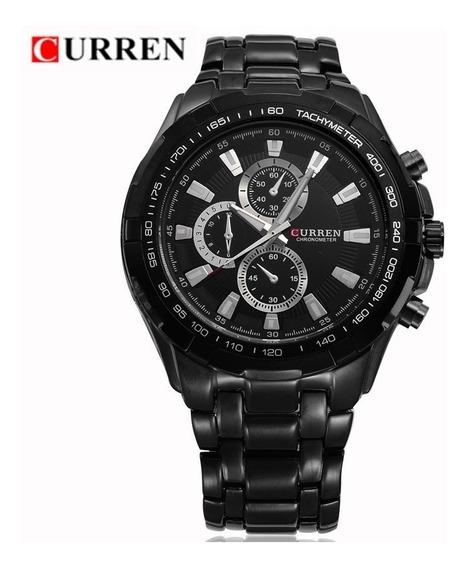 Relógio Curren Masculino Original Pulseira Aço Luxo Promoção