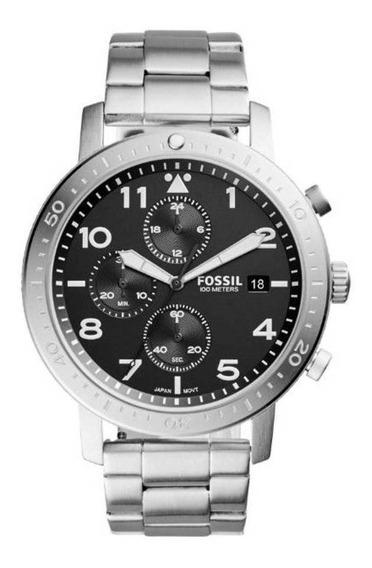 Relógio Fóssil Masculino Cronógrafo Prateado Ch3082/1pn