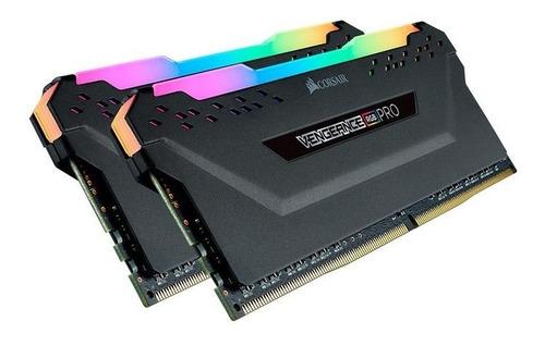 Imagem 1 de 3 de 32 Gb (2 X 16 Gb) Memoria Pc Ddr4 1.35v Rgb Corsair