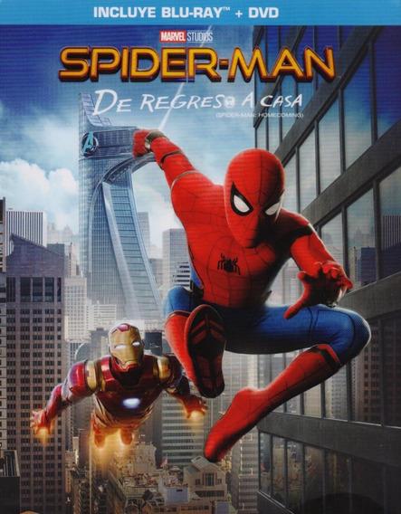 Spiderman De Regreso A Casa Homecoming Marvel Blu-ray + Dvd