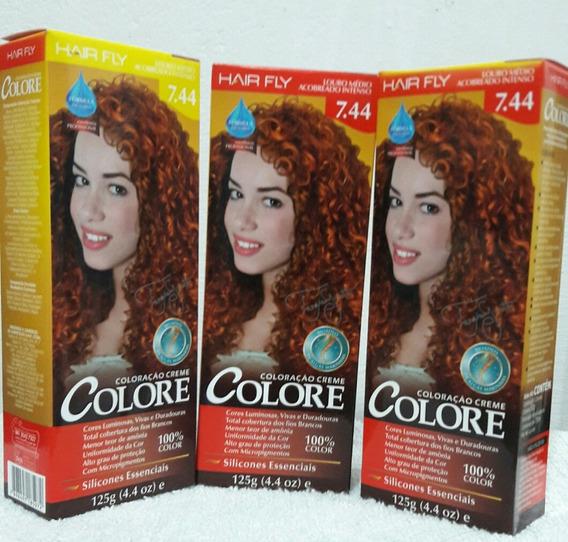 Colore Em Creme Coloração Perm. Hair Fly Cor 7.44 C/10 Und