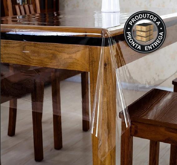 Toalha De Mesa Plastico Transparente Impermeável 2,50 X1,40m