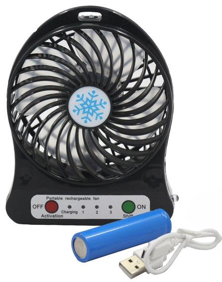 Ventilador Pequeno 15 Cm Carregador De Celular Portatil Usb