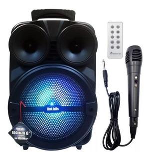 Bocina Bafle Bluetooth Radio Fm + Microfono Y Control T1817