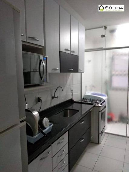 Apartamento Com 2 Dormitórios Para Alugar, 66 M² Por R$ 1.100/mês - Medeiros - Jundiaí/sp - Ap0607