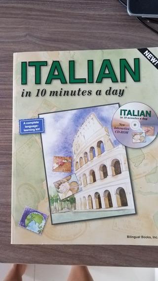 Kit Italian English 10min A Day +cd +cartões +menu +adesivos