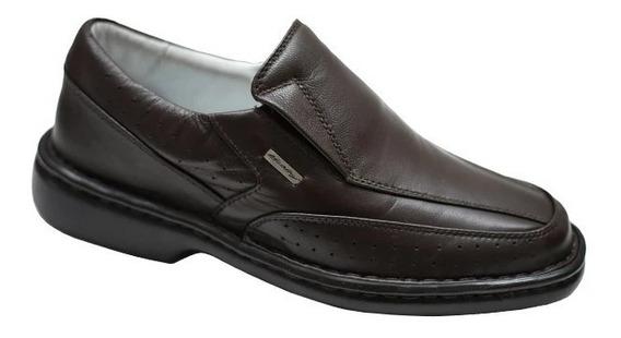 Sapato Confort Couro Legitimo R751 Tamanho Especial 37 Ao 47