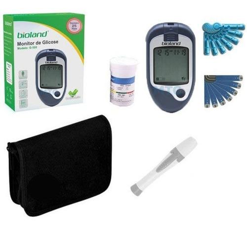 Kit Medidor De Glucosa - Glucometro 25 Tiras, Lanceta, Bolso