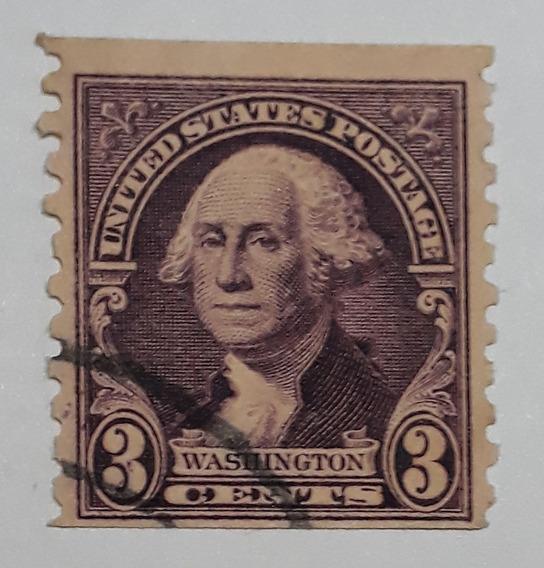Estampilla Estados Unidos George Washington 3 Centavos 1932