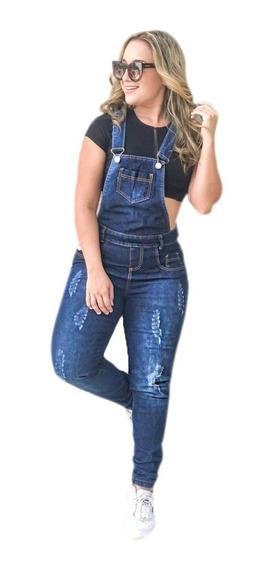 Macacão Calça Jardineira Jeans Moda De Qualidade