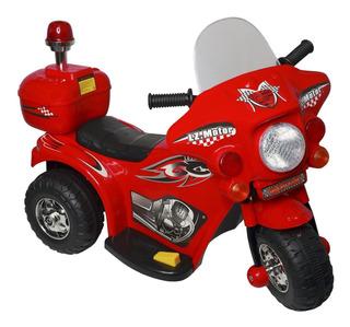 Mini Moto Eletrica Infantil Triciclo Criança Barato Vermelha