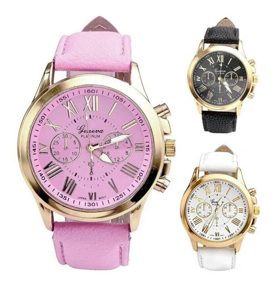 3 Relógios Femininos Frete Grátis Em 12x Sem Juros Promoção!
