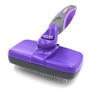 Pet Self Clean Slicker Brush By Hertzko -