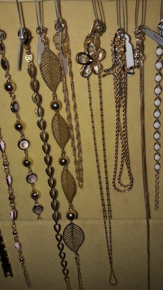 Aneis,cordoes,brincos,pulseiras,todas Banhadas A Ouro 18.