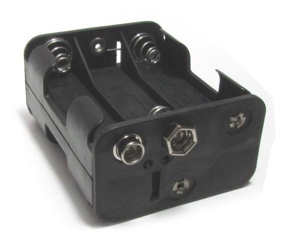 Adaptador / Suporte 6 Pilhas Aa Com Plug 9v P/ Arduino / Pic