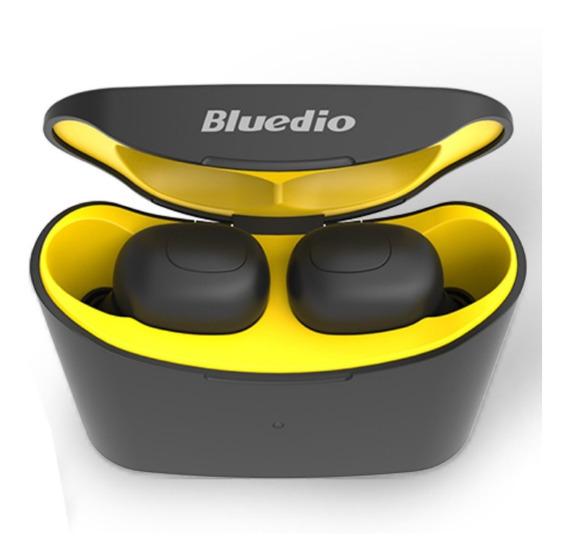 Fone De Ouvido Bluetooth Amarelo Marca Bluedio Sem Fio
