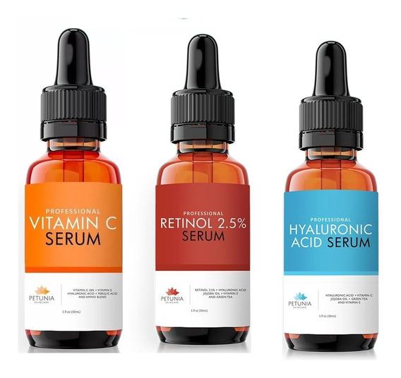 Trio Petúnia Promocional (retinol+hialurônico+vitamina C)