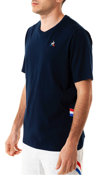 Remera Ess Stripe Tee Azul Hombre Le Coq Sportif