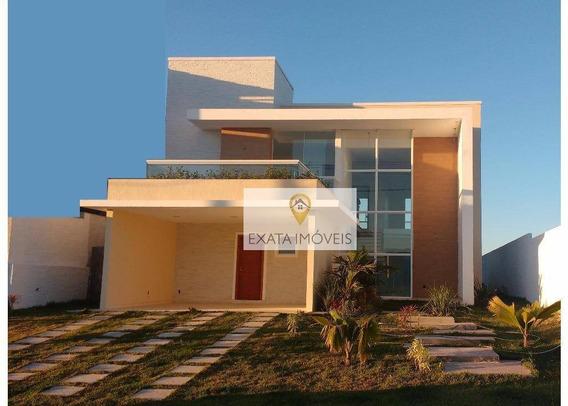 Casa 3 Suítes, Alto Padrão, Condomínio Viverde I, Rio Das Ostras. - Ca0711